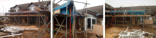 Ground floor extension to Hospice in progress
